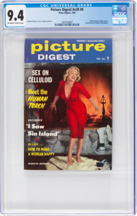 Picture Digest V29#4 (Plaza Digest, 1956) CGC NM 9.4 Off-white to white pages