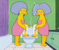 Animation Art:Production Cel, The Simpsons Patty and Selma Production Cel Setup (Fox, 1993). ...