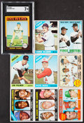 Baseball Cards:Lots, 1966 to 1975 Topps Baseball Collection (9). ...