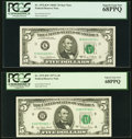 Five $5 Federal Reserve Star Notes with High PCGS Grades. Fr. 1972-K* 1969C Superb Gem New 68PPQ;