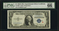 Small Size:Silver Certificates, Fr. 1609 $1 1935A R Silver Certificate. PMG Gem Uncirculated 66 Great Embossing.. ...
