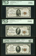 National Bank Notes:ZZZ, Three 67 EPQ/PPQ Series 1929 Nationals.. ... (Total: 3 notes)