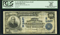 National Bank Notes:Pennsylvania, Davidsville, PA - $10 1902 Plain Back Fr. 632 The First National Bank Ch. # (E)11407 PCGS Apparent Very Fine 25.. ...