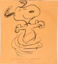 Animation Art:Production Drawing, Snoopy Sketch by Charles Schulz (Art Babbitt Estate, 1971). ... (Total: 2 Original Art)