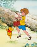 Animation Art:Production Cel, Winnie the Pooh and the Blustery Day Pooh and Christopher Robin Production Cel (Walt Disney, 1968)....
