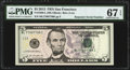 Repeater 77997799 Fr. 1996-L $5 2013 Federal Reserve Note. PMG Superb Gem Unc 67 EPQ