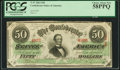 Confederate Notes:1863 Issues, T57 $50 1863 PF-14 Cr. 412 PCGS Choice About New 58PPQ.. ...