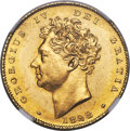 Great Britain, Great Britain: George IV gold 1/2 Sovereign 1828 MS63+ NGC,...