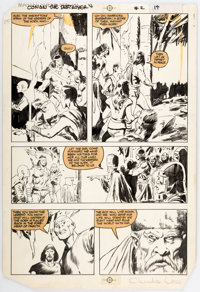 John Buscema and Charles Vess Conan the Destroyer #2 Story Page 14 Original Art (Marvel Comi
