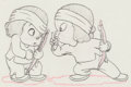 Animation Art:Production Drawing, The Mighty Hunters Canyon Kiddies An...