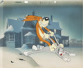 Animation Art:Production Cel, Hare Force Bugs Bunny and Sylvester the Dog Production Cel on Master Production Background (Warner Brothers, 1944). ...
