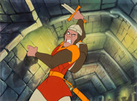 Dragon's Lair Dirk the Daring Video Game Production Cel (Don Bluth, 1983)