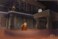 Animation Art:Presentation Cel, Beauty and the Beast Cogsworth and M...