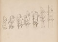 Animation Art:Concept Art, Snow White and the Seven Dwarfs Concept Drawing by Albert Hurter (Walt Disney, 1937)....