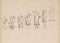 Snow White and the Seven Dwarfs Concept Drawing by Albert Hurter (Walt Disney, 1937)