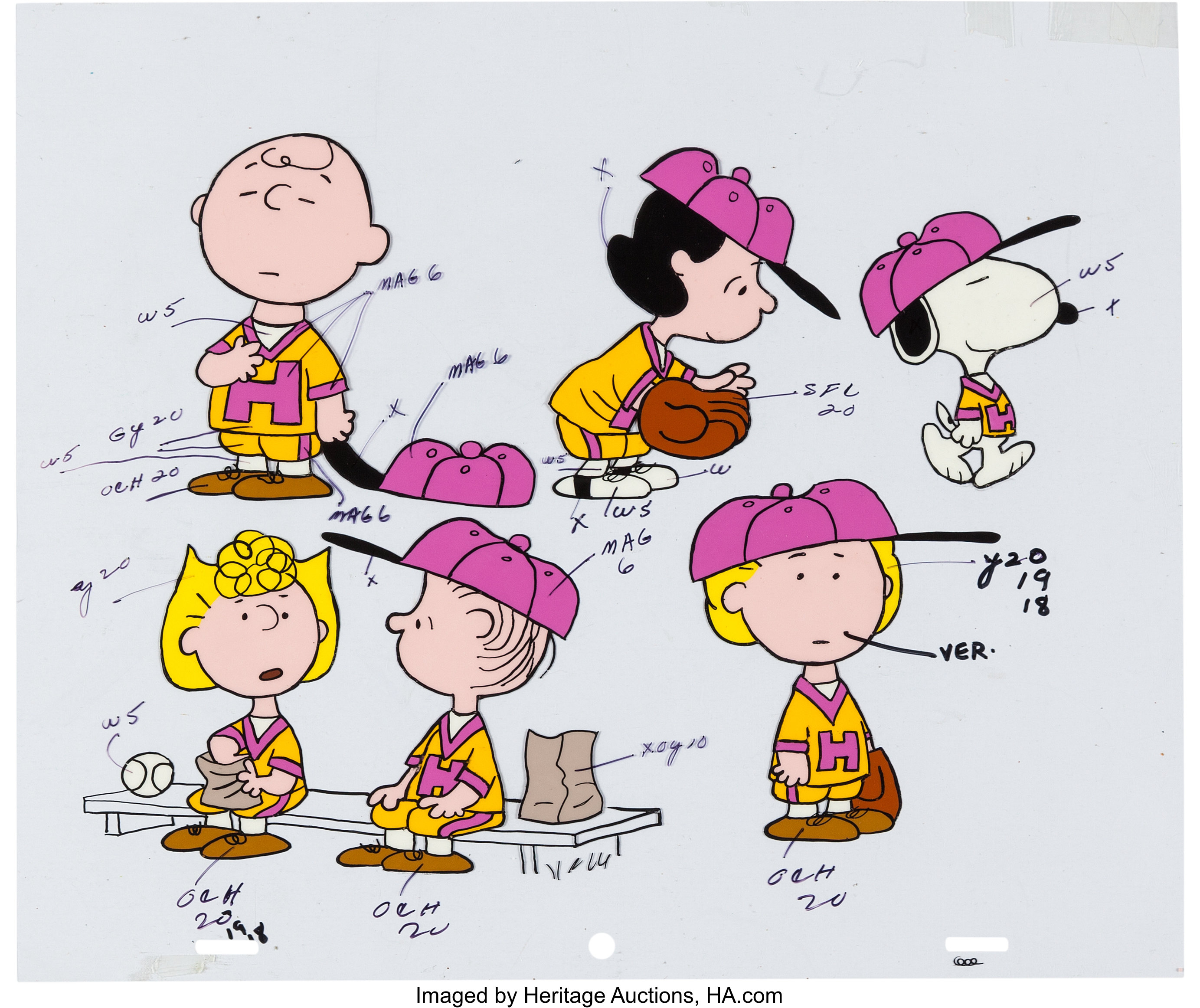 Peanuts It's Spring Training, Charlie Brown Full Cast Color Model ...