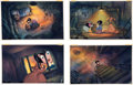 Animation Art:Production Drawing, All Dogs Go to Heaven Painted Storyboard Art Group of 13 (Don Bluth, 1989). ... (Total: 13 Original Art)
