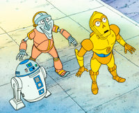 Star Wars: Droids - The Adventures of R2-D2 and C-3PO Production Cel (Lucasfilm/ Walt Disney/ 20th Century Fox, 1985)...