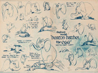 Horton Hatches the Egg Horton Studio Model Sheet (Warner Brothers, 1942)