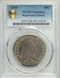 1795 50C 2 Leaves -- Repaired -- PCGS Genuine. Good Details. NGC Census: (32/730 and 0/2+). PCGS Population: (68/1789 an...