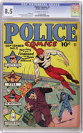 Golden Age (1938-1955):Superhero, Police Comics #2 (Quality, 1941) CGC VF+ 8.5 Off-white to white pages.