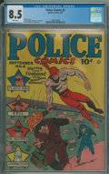 Golden Age (1938-1955):Superhero, Police Comics #2 (Quality, 1941) CGC VF+ 8.5 White pages.