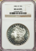 1882-CC $1 MS64 Deep Mirror Prooflike NGC. NGC Census: (321/102). PCGS Population: (866/484). CDN: $550 Whsle. Bid for p...