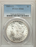 1885-CC $1 MS66 PCGS. PCGS Population: (1276/104). NGC Census: (680/102). CDN: $1,400 Whsle. Bid for problem-free NGC/PC...