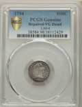 1794 H10C V-4, LM-4, R.4, -- Repaired -- PCGS Genuine. VG Details. NGC Census: (0/9 and 0/0+). PCGS Population: (0/2 and...
