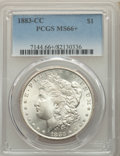 1883-CC $1 MS66+ PCGS. PCGS Population: (2460/241 and 452/23+). NGC Census: (1021/133 and 75/8+). CDN: $530 Whsle. Bid f...