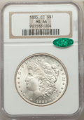 1885-CC $1 MS66 NGC. CAC. NGC Census: (680/102). PCGS Population: (1276/104). CDN: $1,400 Whsle. Bid for problem-free NG...