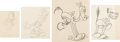 Animation Art:Production Drawing, Flip the Frog Animation Drawings Group of 15 (Ub Iwerks/Celebrity Pictures, c. 1930-32).... (Total: 15 Original Art)