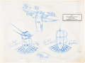 Animation Art:Model Sheet, Pocahontas Flit Preliminary Model Sheets Original Art Group of 3 (Walt Disney, 1995).... (Total: 3 Original Art)