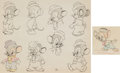 Animation Art:Model Sheet, Sniffles Model Sheet Drawings Group of 2 (Warner Brothers, 1939). ... (Total: 2 Original Art)