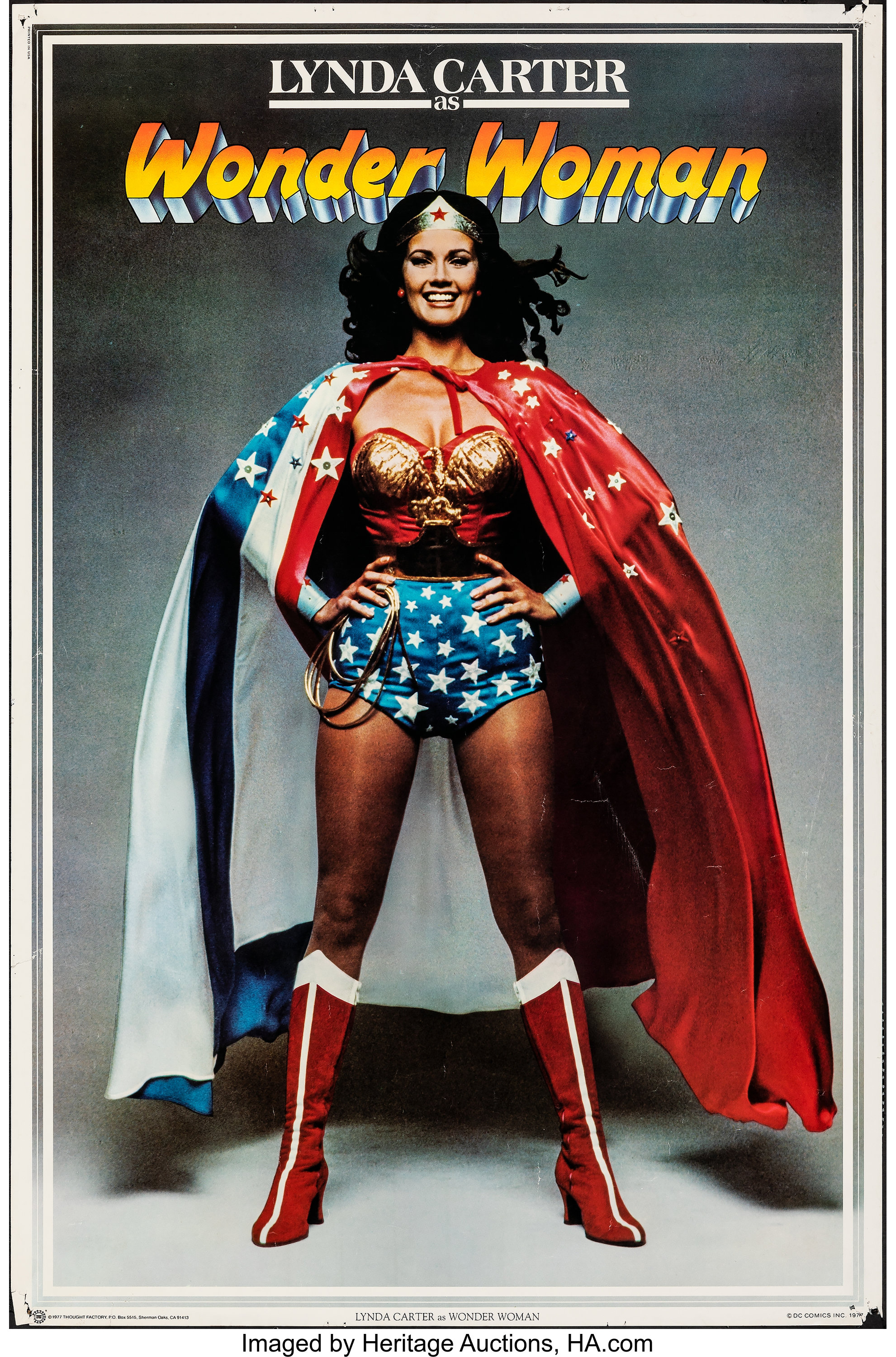 WONDER WOMAN POSTER Thought Factory 1977 DC