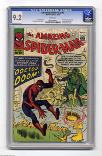 The Amazing Spider-Man #5 (Marvel, 1963) CGC NM- 9.2 White pages. The early Spidey's can't be beat, and this just about...