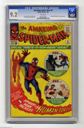"""Silver Age (1956-1969):Superhero, The Amazing Spider-Man #8 (Marvel, 1964) CGC NM- 9.2 White pages. This """"Special Tribute to Teenagers Issue"""" has Peter Parker..."""