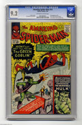 Silver Age (1956-1969):Superhero, The Amazing Spider-Man #14 (Marvel, 1964) CGC NM- 9.2 Off-white to white pages. Not only was the Green Goblin the foe (and D...
