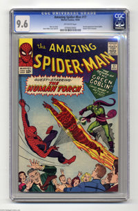 The Amazing Spider-Man #17 (Marvel, 1964) CGC NM+ 9.6 Off-white pages. The Green Goblin makes his second appearance in t...