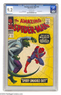 Silver Age (1956-1969):Superhero, Amazing Spider-Man, The #45 (Marvel, 1967) CGC NM- 9.2 Off-white pages. Third appearance of the Lizard. John Romita Sr. cove...