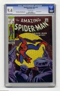 Silver Age (1956-1969):Superhero, The Amazing Spider-Man #70 (Marvel, 1969) CGC NM 9.4 Off-white pages. Great Spidey-in-the-spotlight cover, by John Romita Sr...