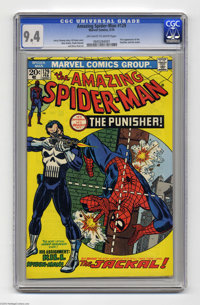 The Amazing Spider-Man #129 (Marvel, 1974) CGC NM 9.4 Off-white to white pages. The Punisher and the Jackal make auspici...