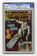 Silver Age (1956-1969):Superhero, Fantastic Four #50 (Marvel, 1966) CGC NM- 9.2 Off-white to white pages. Picking a fight with your boss is never the best ide...
