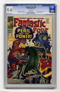 """Silver Age (1956-1969):Superhero, Fantastic Four #60 (Marvel, 1967) CGC NM 9.4 White pages. No one could rival Jack """"King"""" Kirby for early Silver Age two-fist..."""