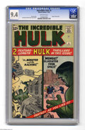 Silver Age (1956-1969):Superhero, The Incredible Hulk #4 (Marvel, 1962) CGC NM 9.4 Off-white pages. Fantasy as you like it from the classic Marvel team of Sta...