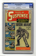 Silver Age (1956-1969):Superhero, Tales of Suspense #39 (Marvel, 1963) CGC VF+ 8.5 Cream to off-whitepages. One of the prime examples of and reasons for Marv...