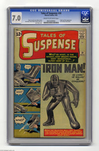 Tales of Suspense #39 (Marvel, 1963) CGC FN/VF 7.0 Cream to off-white pages. Even modest grades of this key are in big d...