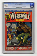 Bronze Age (1970-1979):Horror, Werewolf by Night #1 (Marvel, 1972) CGC NM+ 9.6 Off-white to whitepages. In early '70s Marvel comics, horror was all the ra...