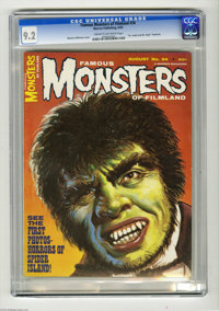 Famous Monsters of Filmland #34 (Warren, 1965) CGC NM- 9.2 Cream to off-white pages. Maurice Whitman cover. This is the...