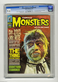 Famous Monsters of Filmland #62 (Warren, 1970) CGC NM+ 9.6 Off-white to white pages. Basil Gogos cover. Text stories by...